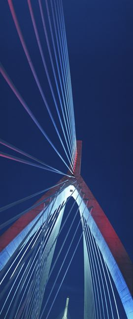 Zakim Bridge Special Event Lighting